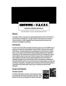 Growing faces school garden program
