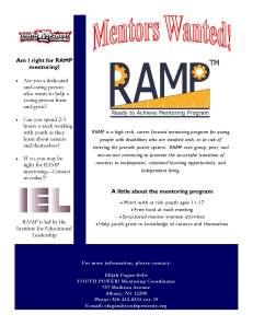 RAMP Mentors Wanted Flyer