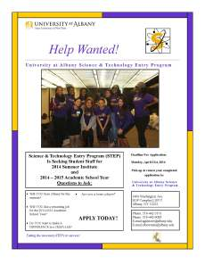 STEP Help Wanted Flyer