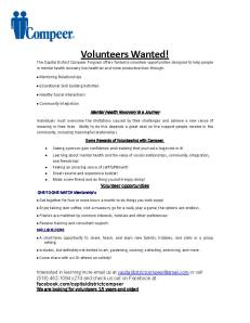 Compeer Volunteers Wanted flyer
