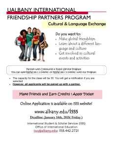 Friendship Partners Program