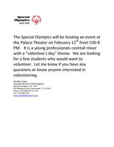 The Special Olympics Event