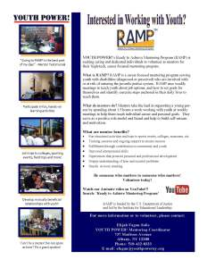 RAMP Mentors Wanted 2015