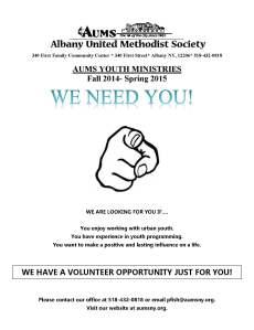 aums volunteer flyer2014