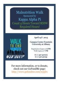 KAPI Malnutrition Walk CPSP Poster