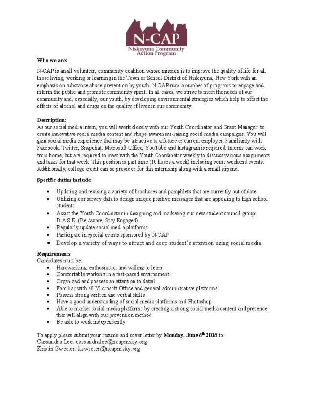 NCAP Internship