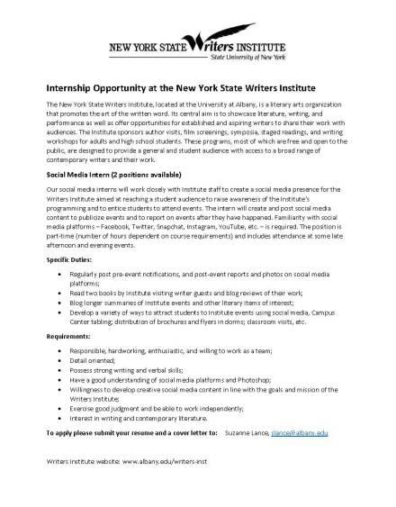 WI Internship_social media