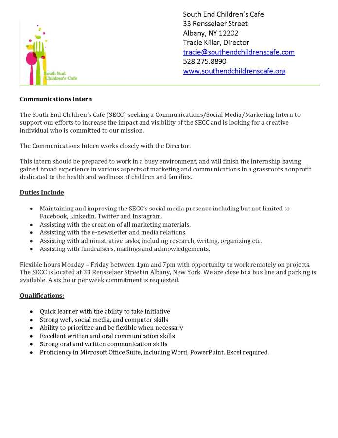 so-end-child-cafe-comm-intern | Community & Public Service